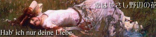 恋はやさし野辺の花 [歌詞和訳・修正版]- フランツ・フォン・スッペ:Von Franz Suppe - Hab' ich nur deine Liebe